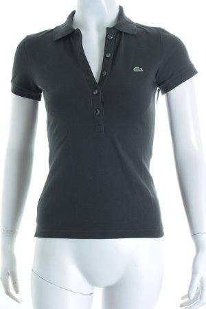 Lacoste Polo-Shirt anthrazit schlichter Stil
