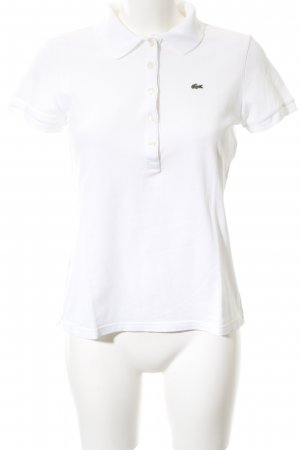 Lacoste Camiseta tipo polo blanco look casual
