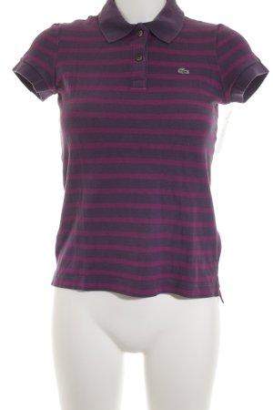 Lacoste Polo-Shirt blauviolett-violett Streifenmuster Casual-Look