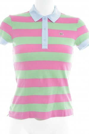 Lacoste Polo color block stile stravagante