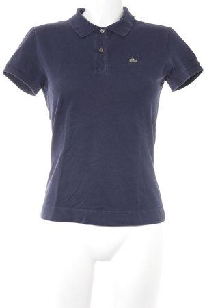 Lacoste Polo-Shirt dunkelblau Logostickerei