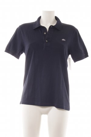 Lacoste Polo blu scuro stile atletico