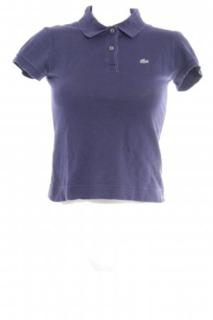 Lacoste Polo-Shirt dunkelblau Webmuster Casual-Look