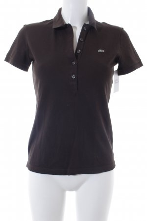 Lacoste Polo Shirt dark brown casual look