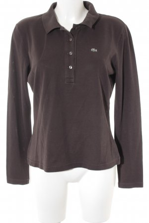 Lacoste Polo Shirt dark brown classic style