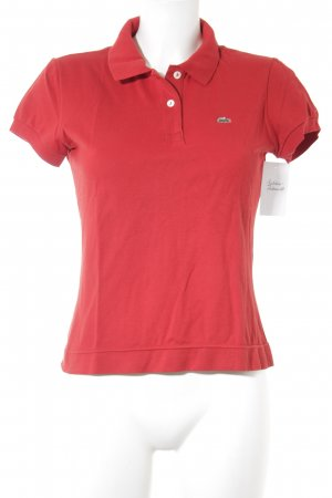 Lacoste Polo-Shirt dunkelrot Casual-Look