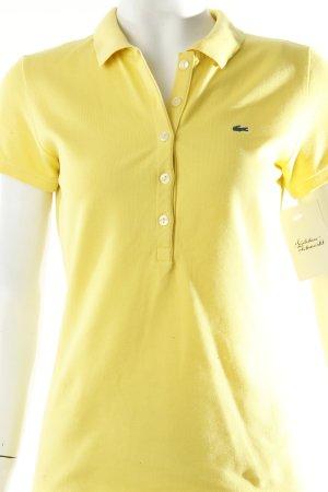 Lacoste Polo-Shirt gelb minimalistischer Stil