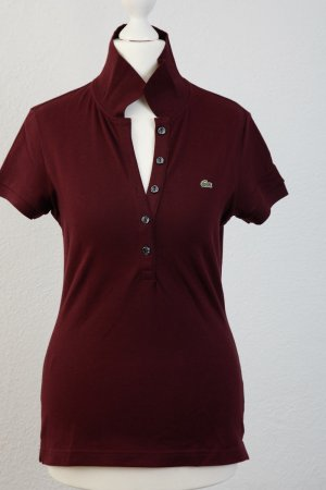 LACOSTE Polo-Shirt Gr 38 bordeaux WIE NEU