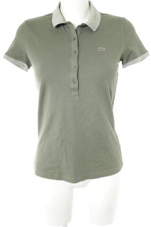 Lacoste Polo-Shirt graugrün-khaki Casual-Look