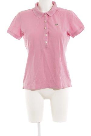 Lacoste Polo-Shirt hellrosa-grün sportlicher Stil