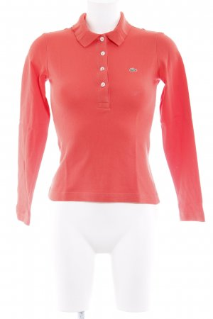 Lacoste Polo Shirt bright red athletic style