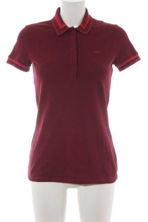 Lacoste Polo-Shirt karminrot-magenta Casual-Look