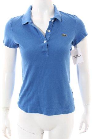 Lacoste Polo-Shirt kornblumenblau sportlicher Stil