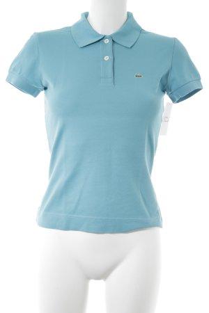 Lacoste Polo-Shirt kornblumenblau-waldgrün Casual-Look