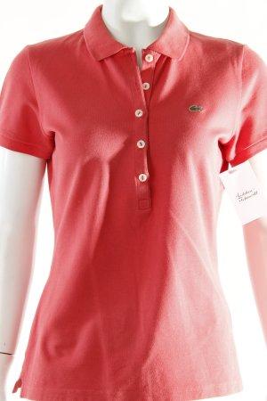 Lacoste Polo-Shirt lachs schlichter Stil