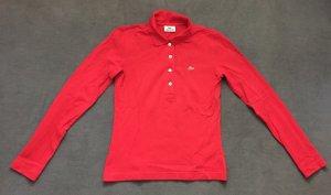 Lacoste Polo Shirt langärmlig rot Größe S