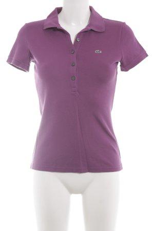 Lacoste Polo-Shirt lila-blauviolett sportlicher Stil