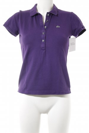 Lacoste Polo-Shirt lila Business-Look