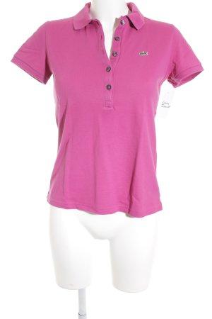 Lacoste Polo-Shirt magenta Casual-Look