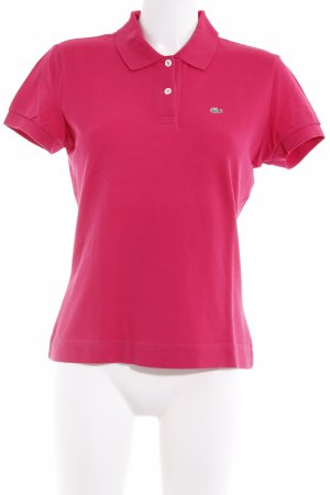 Lacoste Polo-Shirt magenta Casual-Look