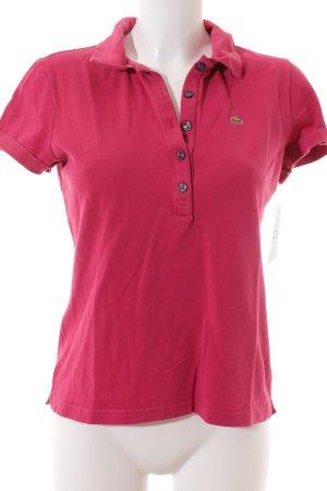 Lacoste Polo-Shirt magenta klassischer Stil
