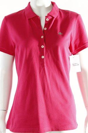 Lacoste Polo-Shirt magenta schlichter Stil