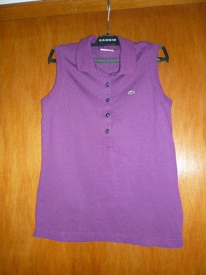 LACOSTE Polo-Shirt ohne Arm, lila/purpur, Größe 40, NEUWERTIG