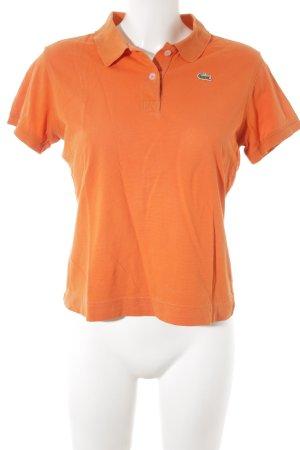 Lacoste Polo arancione stile casual