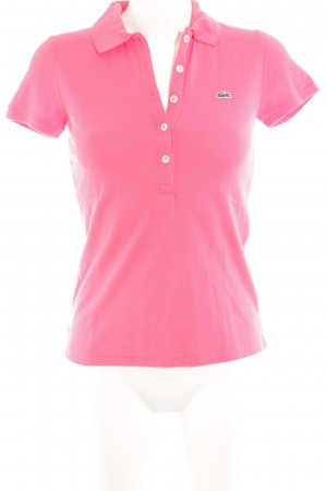 Lacoste Polo Shirt pink athletic style