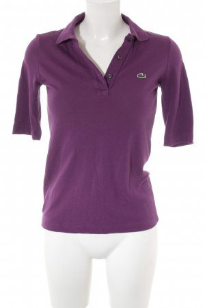 Lacoste Polo Shirt purple casual look