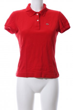 Lacoste Camiseta tipo polo rojo look casual