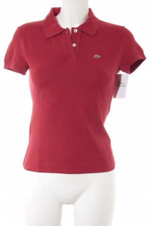 Lacoste Polo-Shirt rot College-Look