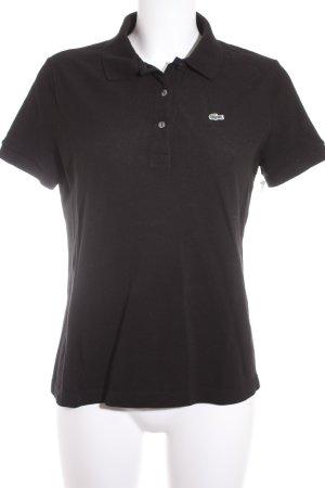 Lacoste Polo-Shirt schwarz klassischer Stil
