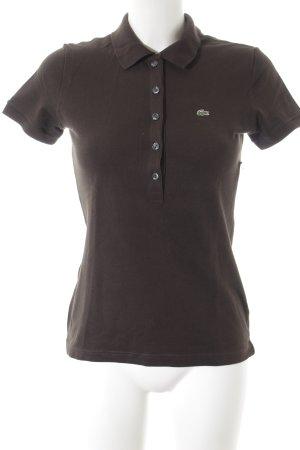 Lacoste Polo-Shirt schwarzbraun-grün sportlicher Stil