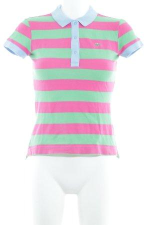 Lacoste Polo-Shirt Streifenmuster extravaganter Stil