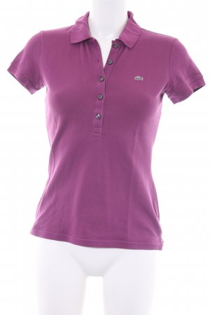 Lacoste Polo-Shirt violett Casual-Look