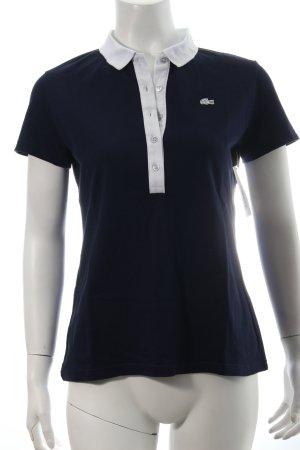 Lacoste Polo-Shirt weiß-dunkelblau Casual-Look