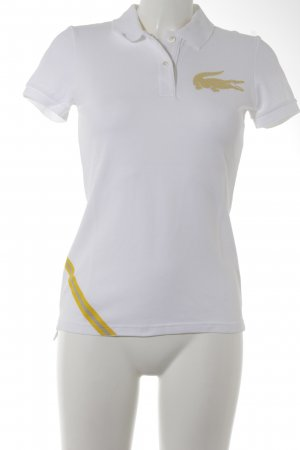 Lacoste Polo-Shirt weiß-gelb Casual-Look