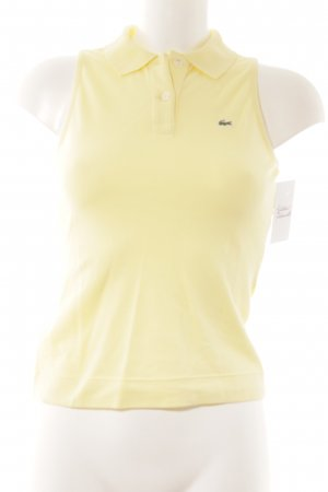 Lacoste Top Polo jaune primevère-vert clair style simple
