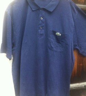 Lacoste Camisa de manga corta azul-azul acero Algodón