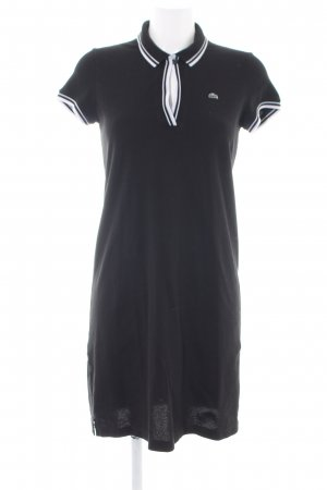 Lacoste Polo Dress black-white striped pattern athletic style