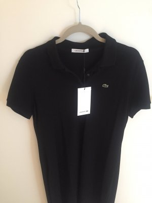 Lacoste Polo Dress black cotton