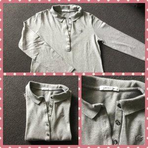 Lacoste Polo Shirt silver-colored-light grey cotton