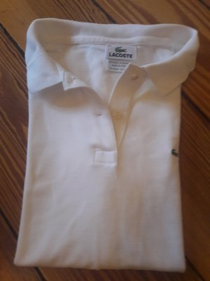 Lacoste Polo Shirt white cotton