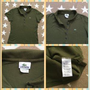 Lacoste Polo Shirt green grey cotton