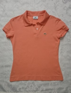 Lacoste Poloshirt Damen kurzarm Slim Fit Orange Gr. 36