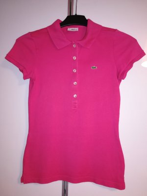 LACOSTE Poloshirt Gr. 36 Kurzarm pink rosa