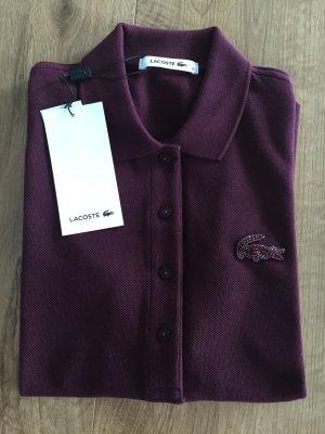 Lacoste Poloshirt Gr. 36 S NEU Polo Bordeaux dunkelrot UVP 130 EUR