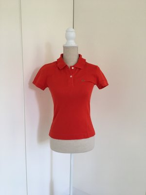 Lacoste Polo orange foncé