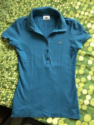 Lacoste poloshirt größe s 36 blau shirt oberteil